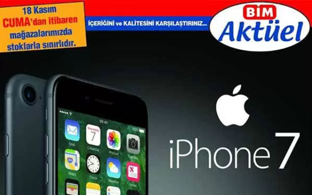 BİM iPhone 7 Satacak Hem de Daha Ucuz!