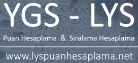 YGS LYS Puan ve Sıralama Hesaplama